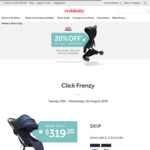 20% off Redsbaby SKIP (Now $319.20) and SKIP Accessories