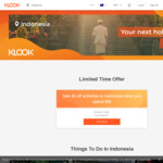 $5 off (Minimum $50) Activities @ Klook