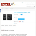 KEF Q150 (Passive) Bookshelf Speakers (Black) (Pair) $600 Delivered @ Excel Hi-Fi