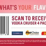 4x 275ml Vodka Cruiser Bottles for $10 @ Liquorland, First Choice Liquor & First Ch. Liquor Market (Voucher Required - Excl. NT)