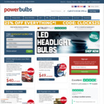 25% off Sitewide (Some Exclusions Apply) + Free Standard Shipping @ PowerBulbs