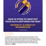 Free 9v Smoke Alarm Batteries @ Battery World (National, Nov 9 & 10, Swap Old for New, Max 20 Per Customer)
