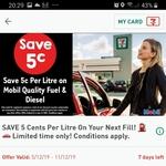 Save 5c Per Litre via 7 Eleven Fuel App