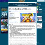 3 x Golden Keys for Borderlands 3