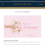 Win 12 Bottles of Champagne Worth $1,548 from Emperor Champagne