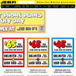 JB Hi-Fi [$400 Gift Card] on $65/Monthly (12 Months) and [$500 Phone Credit] with (24 Months) (in-Store Only)