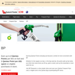Join BP Rewards 10 Bonus QFF Status Credits, 2 Qantas Points P/Lt on Fuel and 1 Qantas Point Per $1 for in-Store Purchase