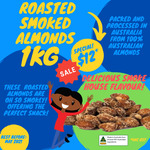 Australian Dry Roasted, Smoked or Wasabi Almond $12/kg, Walnut $11/kg + Delivery @ Nuts About Life