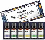 K KBAYBO Essential Oils for Diffusers, 6*10ml Oil Set $16.19 (Was $26.99) + Delivery ($0 with Prime / $39 Spend) @ Amazon AU