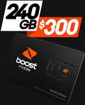 Boost Prepaid   12 Months Expiry   240GB Data   Unlimited Talk & Text   International Calls*   $268.95 @ MobileTechMart eBay