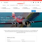 Win 1 of 5 $100 Gift Cards from RedBalloon