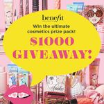 Win a Cosmetics Prize Pack Worth $1,000 from Benefit Cosmetics