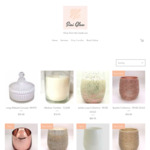 12% off Candle Jars and Hand Poured Soy Candles (Free Delivery over $100 Spend) @ Sini Glow
