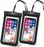 20% off 2 Pack Waterproof Case Underwater Pouch $10.39 (Was $12.99) + Delivery ($0 with Prime/ $39 Spend) @ Anjoo Amazon AU