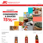 [VIC] 15% Off Condiments | $18 Delivery > $50, $9 Delivery > $80 or Free > $150 or C&C @ JFC Online