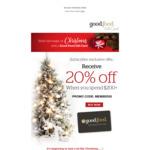 20% off $200+ Spend @ Good Food Restaurant Gift Card