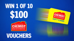 Win 1 of 10 $100 Chemist Warehouse Gift Cards from Seven Network