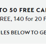 Purchase 90 / 140 / 250 Coffee Capsules, Get Free 10 / 20 / 50 Selected Capsules @ Nespresso
