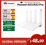 Huawei Wi-Fi AX3 Pro AX3000 WiFi 6+ Wireless Router US$64.06 (~A$82.83) Delivered @ SIMSON HW Store AliExpress