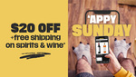 $20 off and Free Shipping with Every 3 Bottles of Selected Wines or Spirits @ Boozebud via App