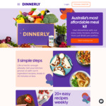 $90 off over 5 Meal Kit Boxes ($30 off 1st, $20 off 2nd and 3rd, $10 off 4th and 5th, New Customers Only) @ Dinnerly