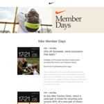 [VIC, NSW, ACT, QLD] Return a Used Pair of Shoes for Recycling and Receive 40% off a New Pair of Shoes @ Nike Factory Stores