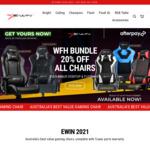 20% off Gaming Chairs (Bonus Gaming Table Mat & Floor Mat) + Delivery @ Ewin Racing