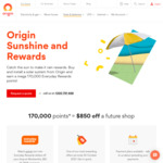 Install a Solar Energy System from Origin and Earn 170,000 Everyday Rewards Points
