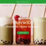 Free Shipping (up to $100 Value) with Minimum $50 Order and Coupon @ Sunwide Bubble Tea Store