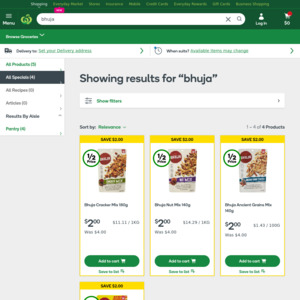 ½ Price Bhuja Mix $2, Poppin Popcorn 100g X 4 Pack $2.77 @ Woolworths