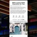 Win a Luxury Hotel Staycation for Two Worth $1000 from Explore Travel
