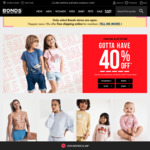 Bonds: 40% off Sitewide (Excl. Bloody Comfy, Personalised Items) + 10% Cashrewards Cashback (15% ANZ Max) Uncapped (Expired)