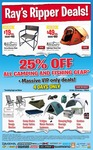 Ray's Outdoors 25% off Camping & Fishing Gear