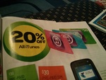 20% off iTunes Cards @ Woolworths