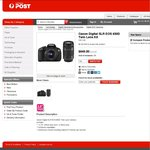Canon Digital SLR EOS 650D Twin Lens Kit $655.95 Delivered @ Australia Post Online
