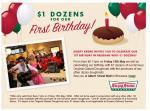 Brisbane Krispy Kreme - $1 for a dozen doghnuts, with the purchase of any other dozen doughnuts