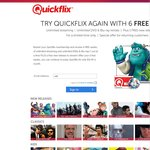 Quickflix: Existing Returning Users Only: 6 Weeks Free