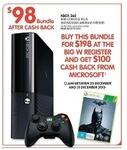 Xbox 360 4GB Console +Batman Arkham Origins Bundle $98 (after Cashback) + Other Deals @ BigW