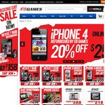 20% iPhone Deals from EB Games (Today and Online Only, Refurbished/Preowned), Start from $255