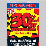 Spotlight: 30% off Storewide (Mon 17th, Tues 18th Only)