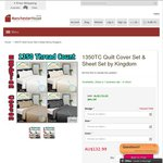 1350TC Quilt Cover Set Kingdom - $132.99 Queen Sized Free Shipping at Manchesterhouse.com.au