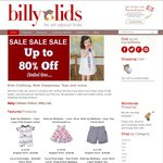 BIG Summer SALE. up to 80% off. Billy Lids Online. Baby, Toddler & Kids Clothing. Prices from $4