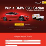 Win a BMW 320i (Worth $76,462) or 1 of 2000x $100 Fuel Card - Buy Shell V-Power Fuel