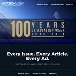 FREE: Every Issue of Aviation Week Magazine for the Past 100 Years (Digital Only)