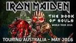 Iron Maiden May Tour - 666 Tickets at $66.60 Via Ticketek - Bris/Adel/Perth