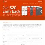 $20 Cash Back on Microsoft Office