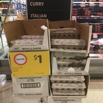 Myrtle Creek Caged Eggs 700g $1/Dozen @ Coles Southland VIC