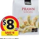 KB's Prawn Gyoza 750g $8 (Was $16) @ Coles 01/02