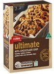 Coles Ultimate 40% Chocolate Chip Cookies 400g Now $3