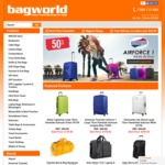 Extra $5 off Coupon Code When You Spend $49.95 or More @ Bagworld